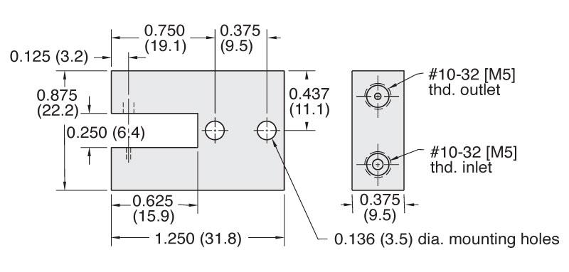 Clippard 1030 Non-Contacting Gap Sensor Dimensions