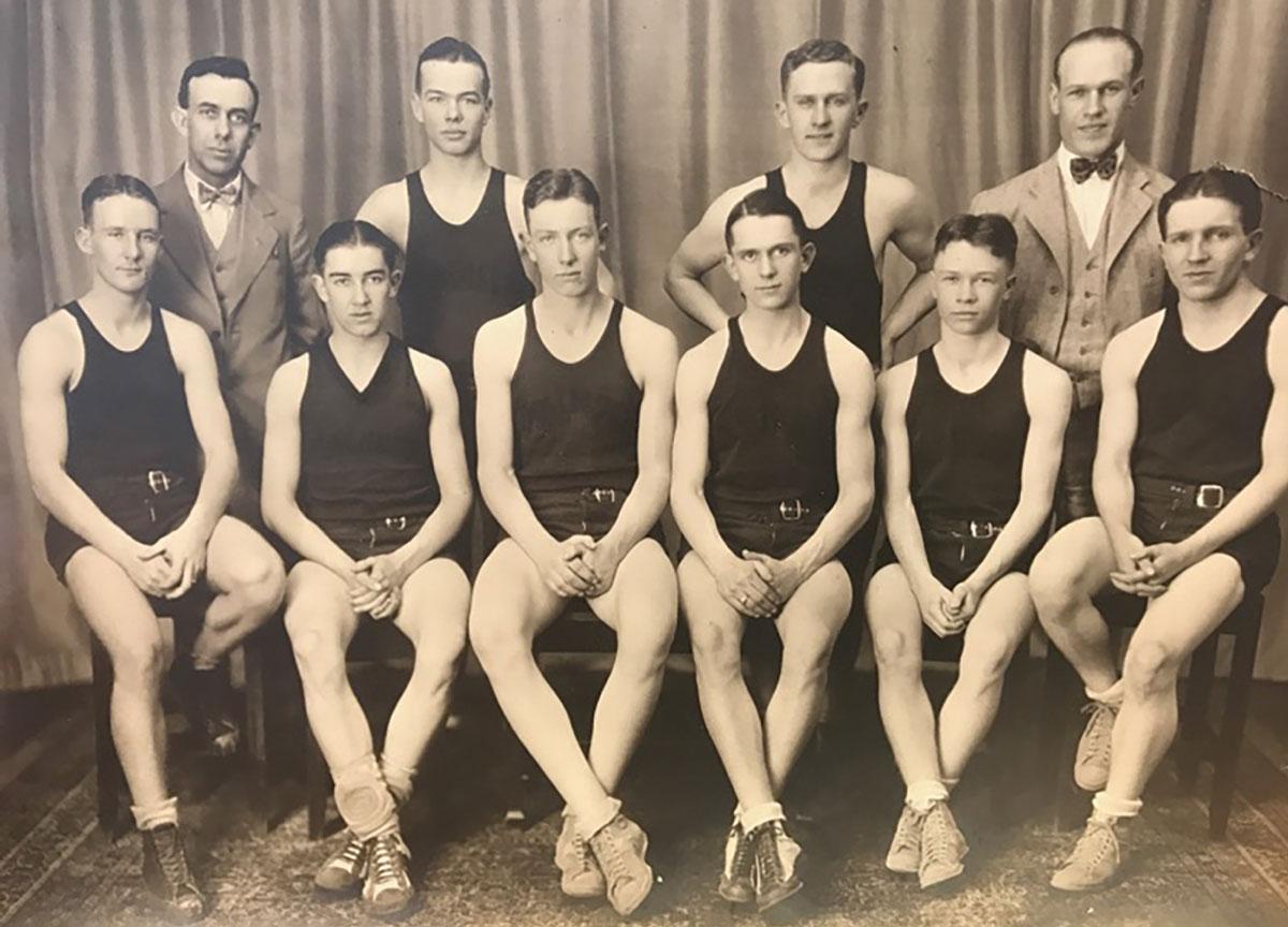 Leonard Clippard, 1926 - Wrestling Team