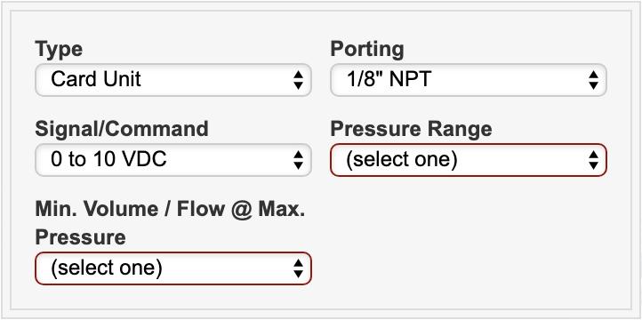 Cordis Pressure Controls Product Configurator