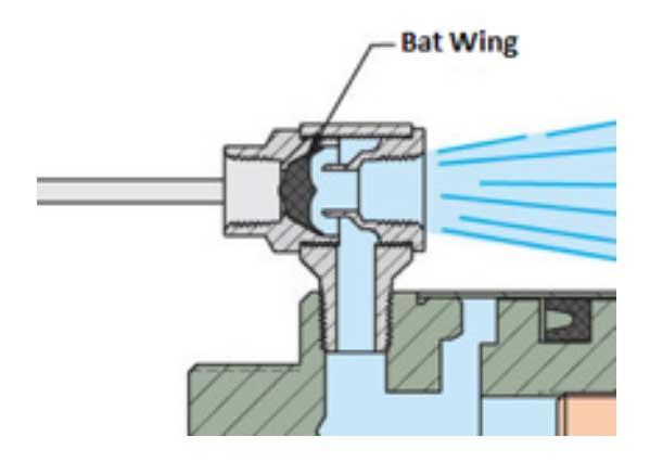 Diagram of Quick Exhaust Valve Exhausting Air